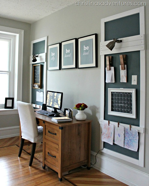 DIY Office Ideas - Office Makeover Design by Christina Marie Blog