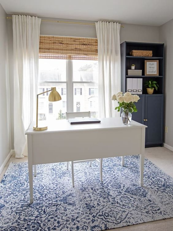 DIY Office Ideas - Simple and Elegant Office Design by Angela Marie Made