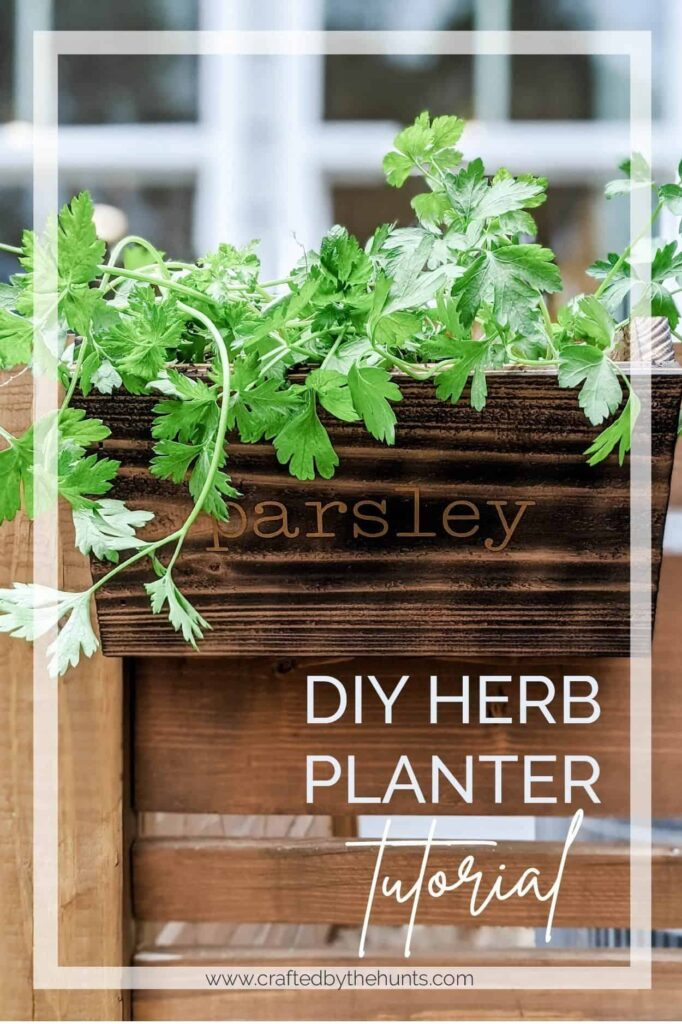 DIY Planter Ideas - DIY Herb Planter by Crafted by the Hunts
