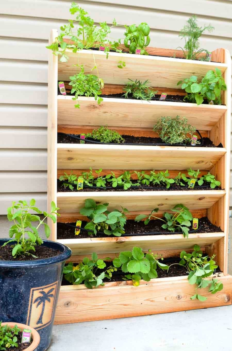 DIY Planter Ideas - DIY Vertical Garden by Houseful of Handmade