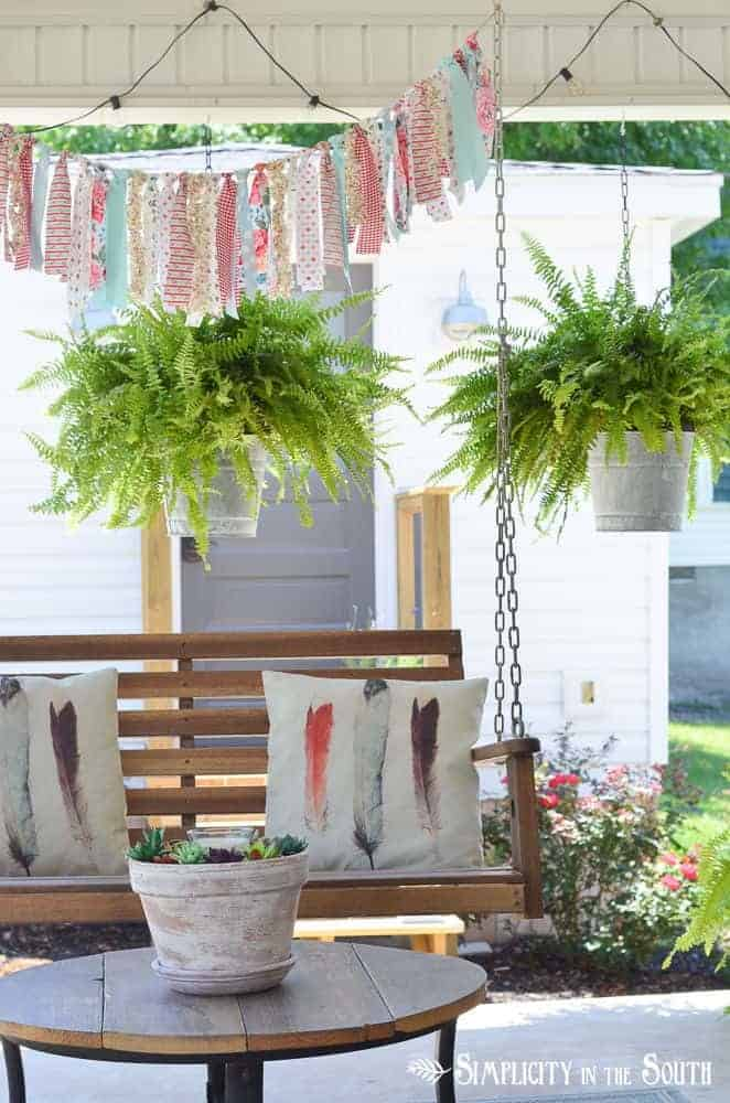 DIY Planter Ideas - Hanging Planter Buckets by Simplicity in the South