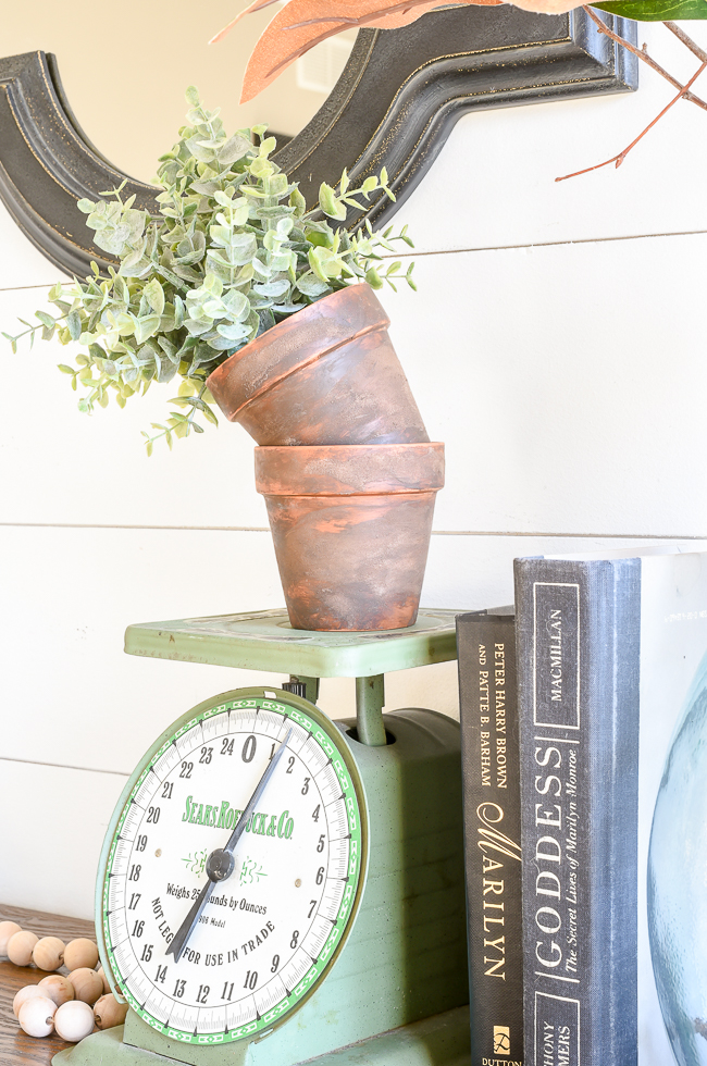 DIY Planter Ideas - How to Age Terra Cotta Pots by Little House of Four