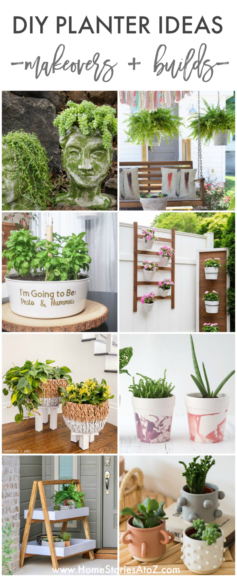 DIY Planter Ideas - How to Build a Planter, Planter Makeovers, and Plant Stands