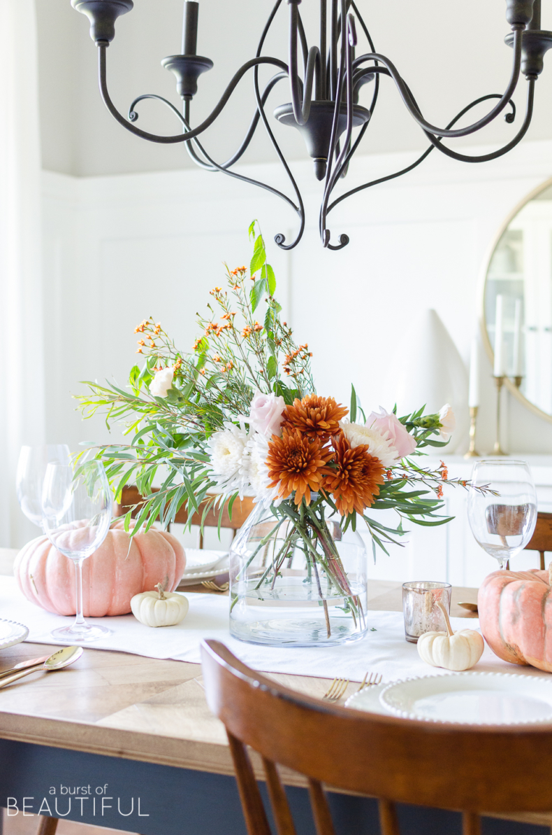 Fall Flower Arrangements and Vignettes - Traditional Fall Colors by Nick & Alicia
