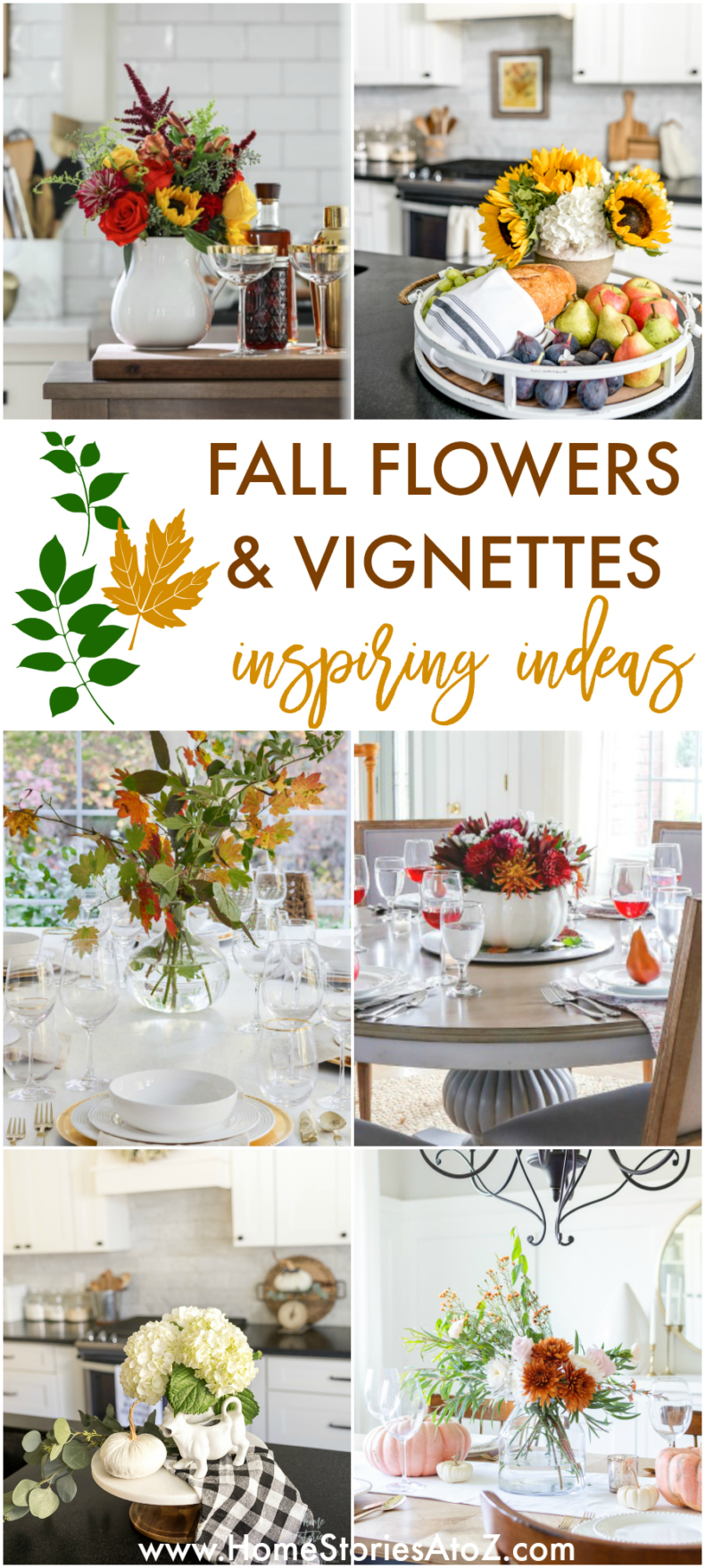 Fall Flowers and Vignettes - Inspiring Ideas for your home