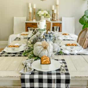 black-white-buffalo-check-fall-table-setting