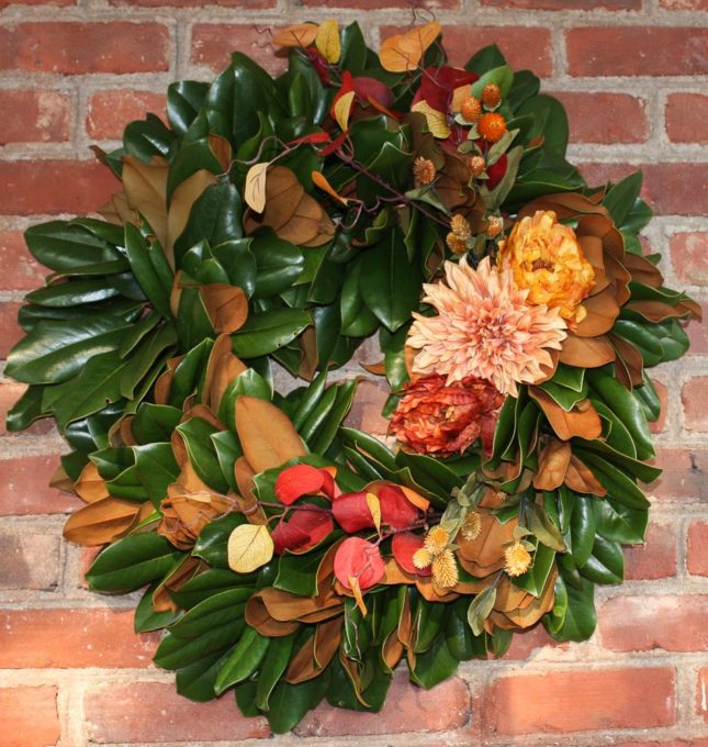 Gorgeous Fall Wreath Ideas - DIY Magnolia Wreath by Sweet Pea