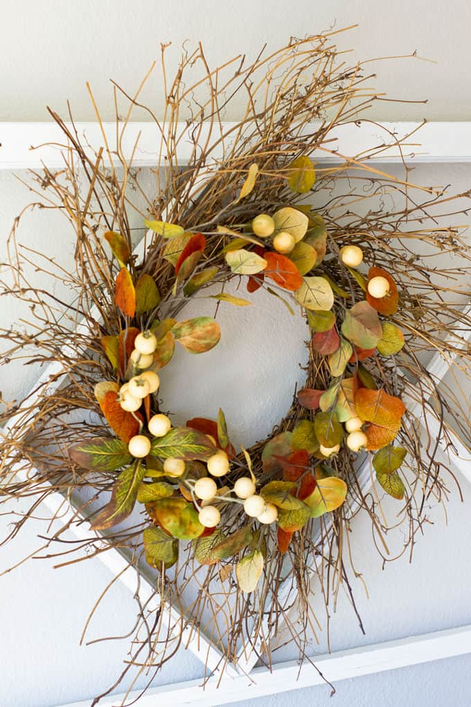Gorgeous Fall Wreath Ideas - Rustic Fall Wreath by My Wee Abode