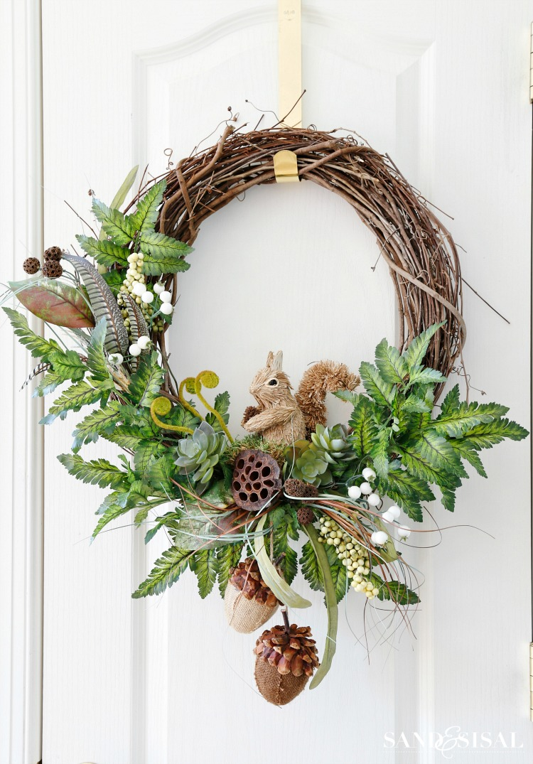 Gorgeous Fall Wreath Ideas - Woodland Fall Wreath by Sand & Sisal