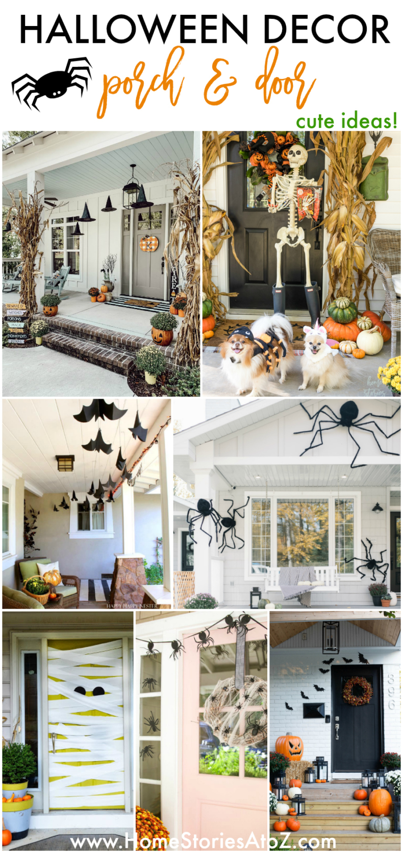 Halloween Porch & Door Decor Ideas