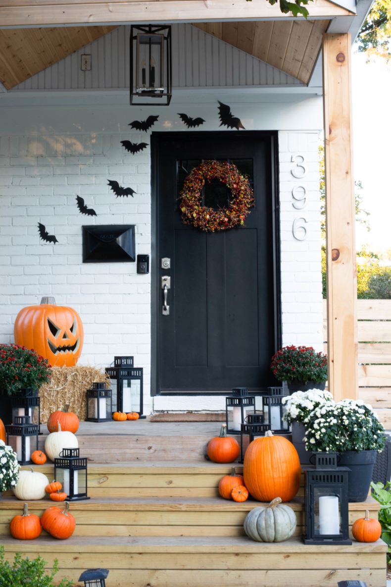 Halloween Porch and Door Ideas - Clark + Aldine