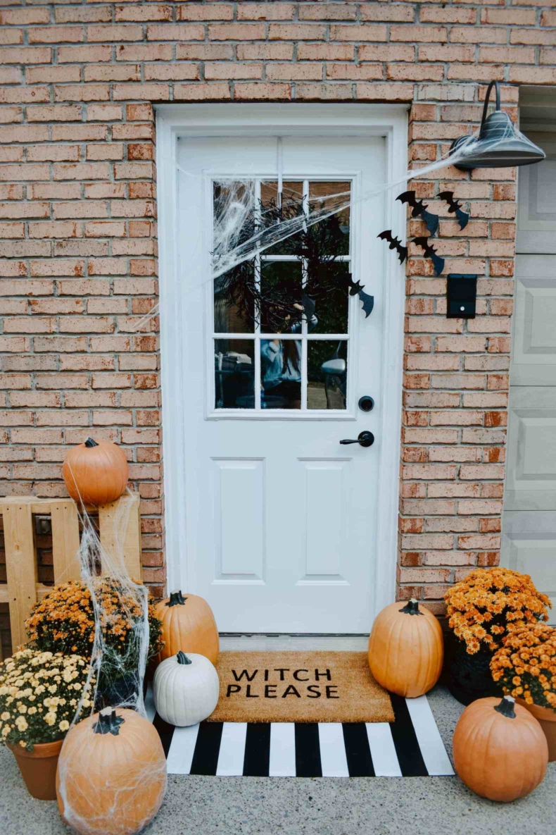 Halloween Porch and Door Ideas - House on Longwood Lane