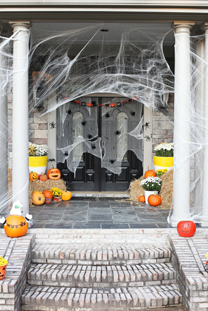 Halloween Porch and Door Ideas - Infested Halloween Porch by Bower Power