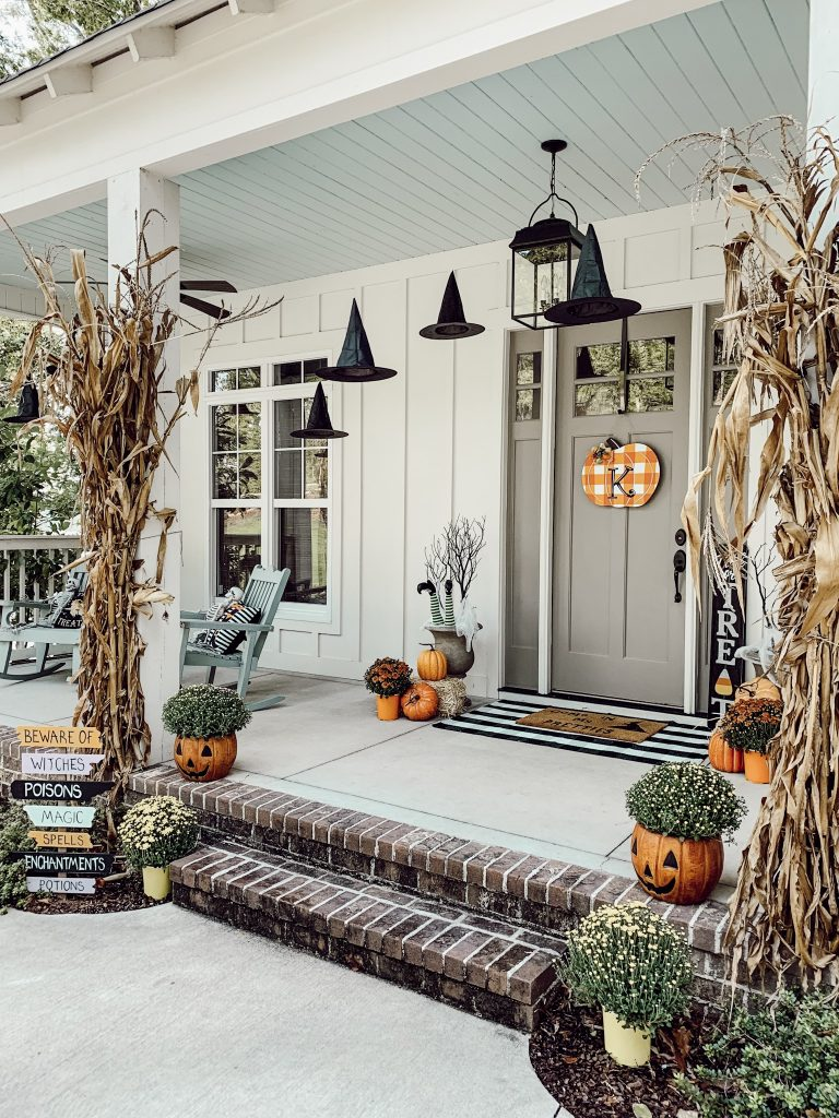 Halloween Porch and Door Ideas - Spooky Porch by Hostess JO