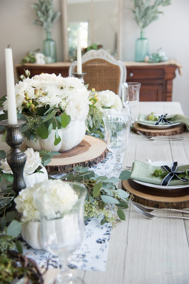 Simple Fall Decor - Elegant Farmhouse Fall Dining Room by Home Stories A to Z