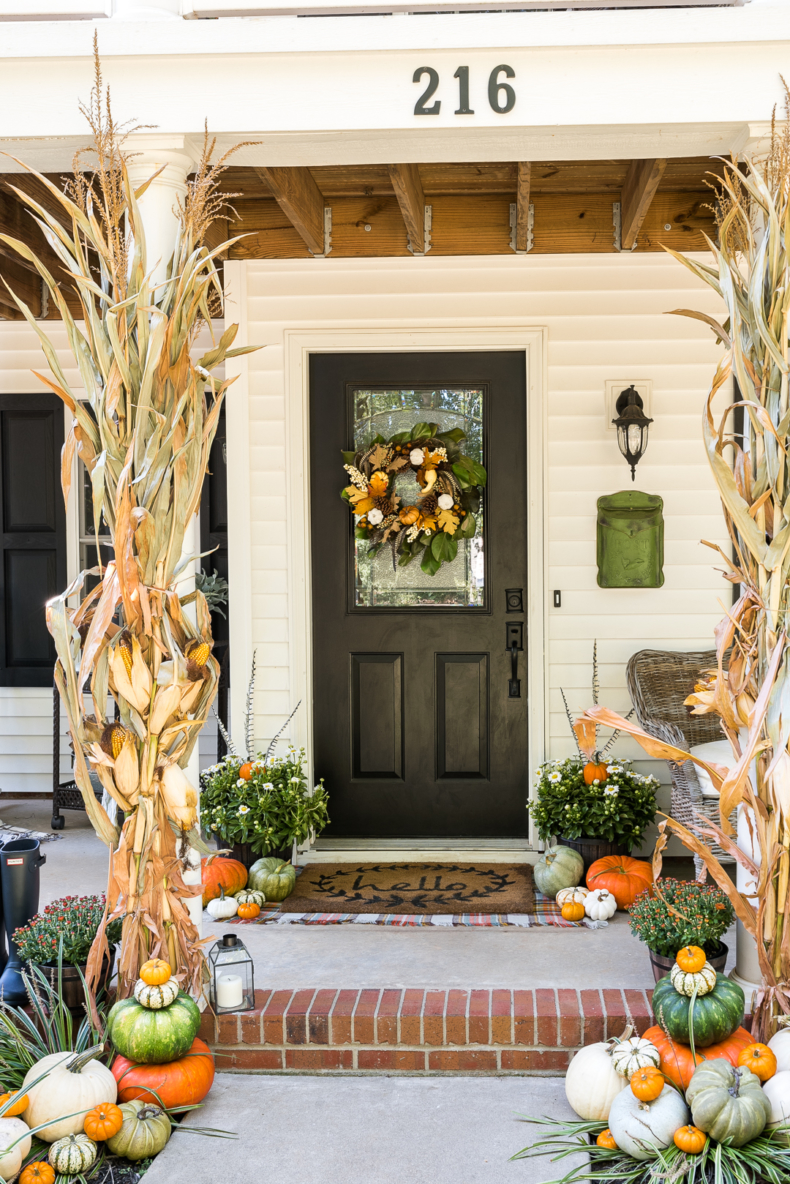 Simple Fall Decor - Traditional Fall Colors Porch by Home Stories A to Z