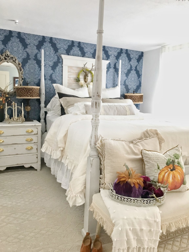 Fall Decor Ideas - Fall Bedroom by Hallstrom Home