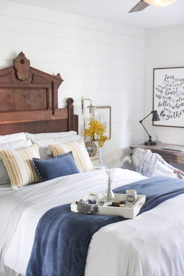 Fall Decor Ideas - Fall Bedroom by Shades of Blue Interiors