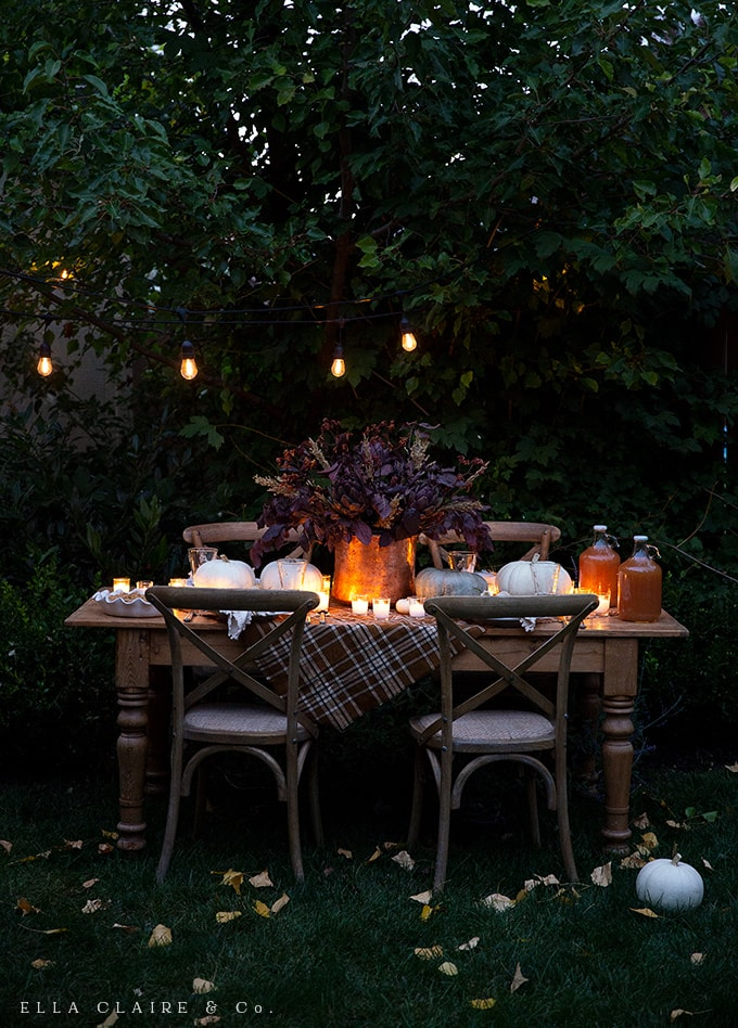 Fall and Thanksgiving Tablescape Tips - Ella Claire