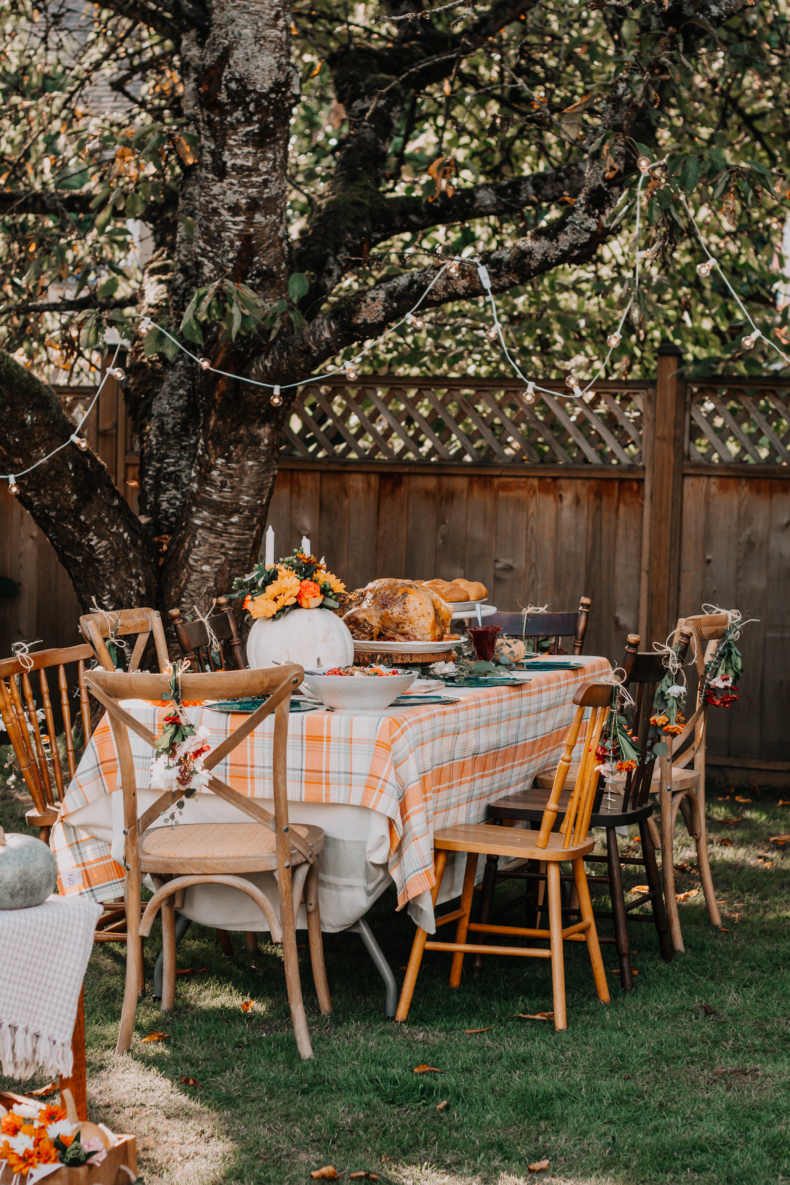 Fall and Thanksgiving Tablescape Tips - Friendsgiving by The Sweet and Simple Kitchen