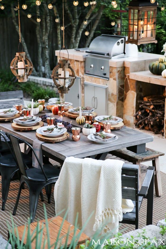 Fall and Thanksgiving Tablescape Tips - Mason de Pax