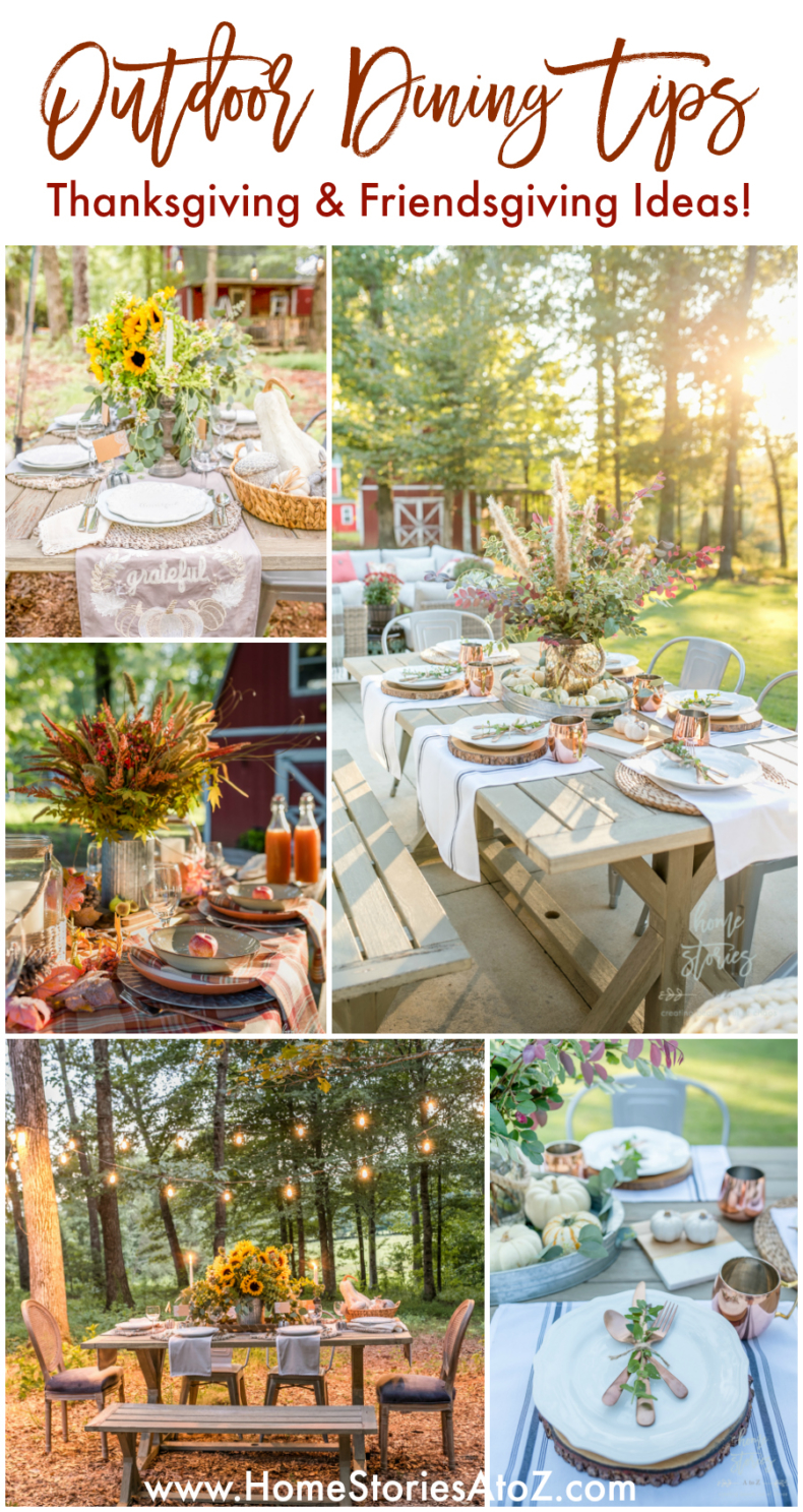 Outdoor Dining Tips - Fall and Thanksgiving Entertaining Tips