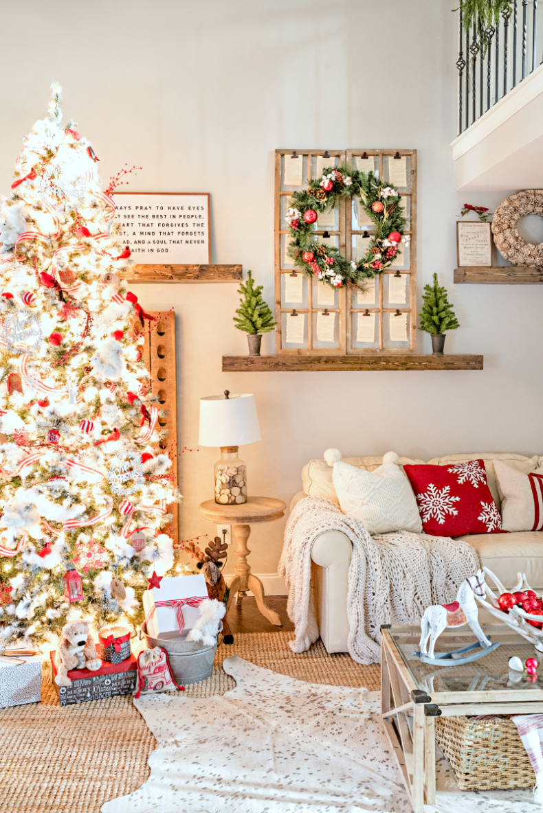 Traditional Christmas Decor Ideas - Christmas Living Room by Home Stories A to Z