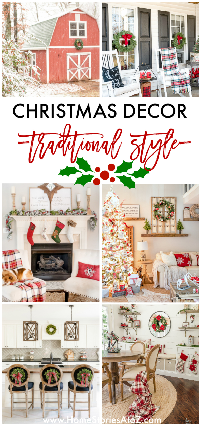 Christmas Decor Traditional Style by Home Stories A to Z