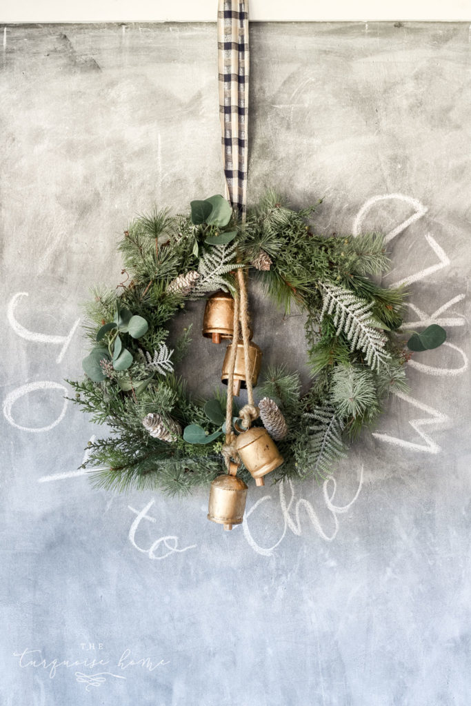 Christmas Wreath Ideas - DIY Winter Wreath by The Turquoise Home