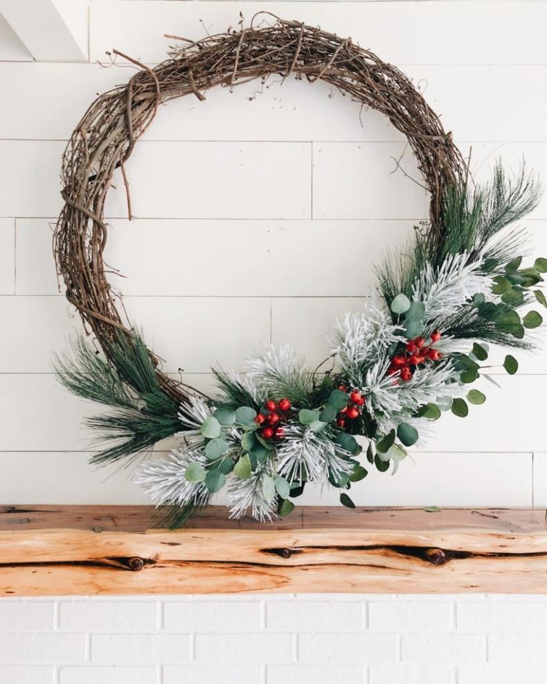 Christmas Farmhouse Wreaths - Farmhouse Christmas Wreath by Cotton Stem