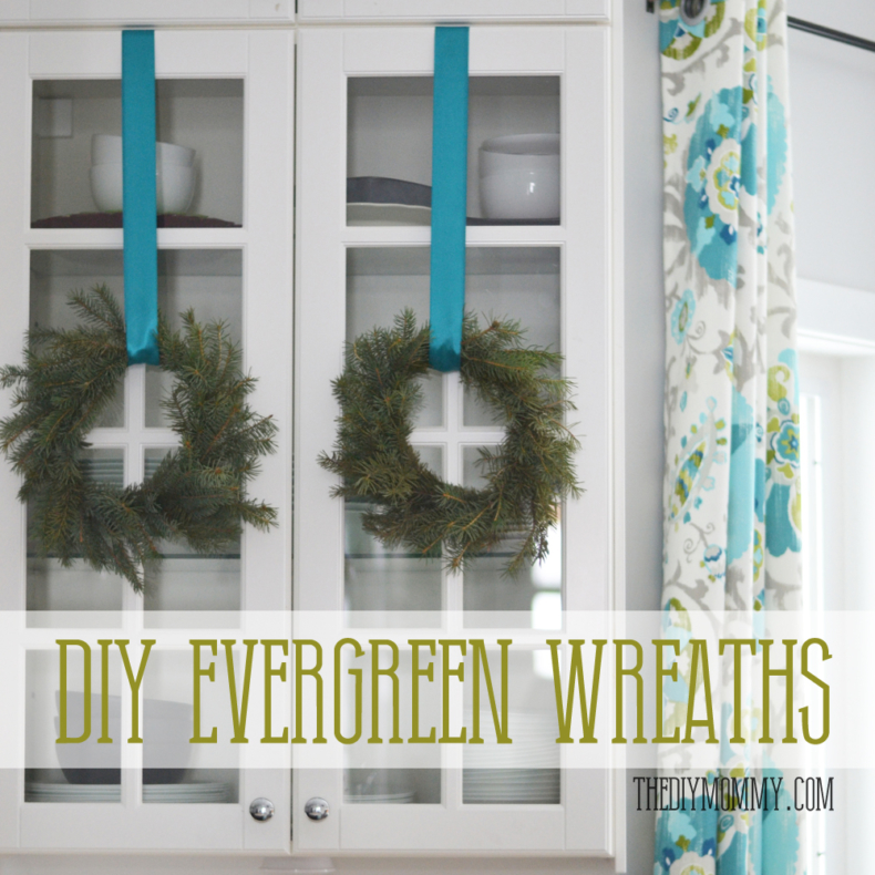 Christmas Wreath Ideas - How to Make a Real Evergreen Wreath by The DIY Mommy