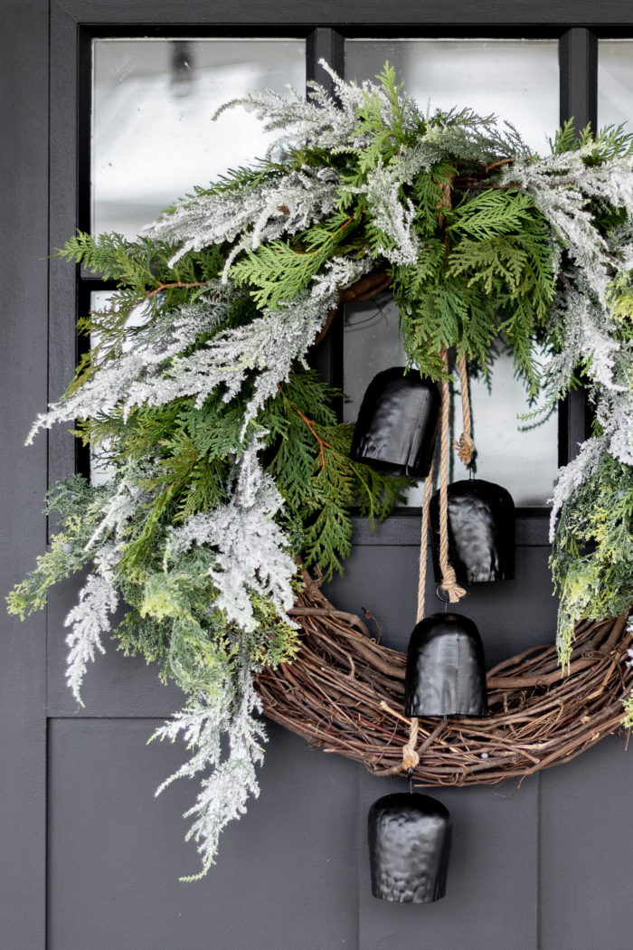 Christmas Wreath Ideas - Modern Christmas Wreath by Cherished Bliss