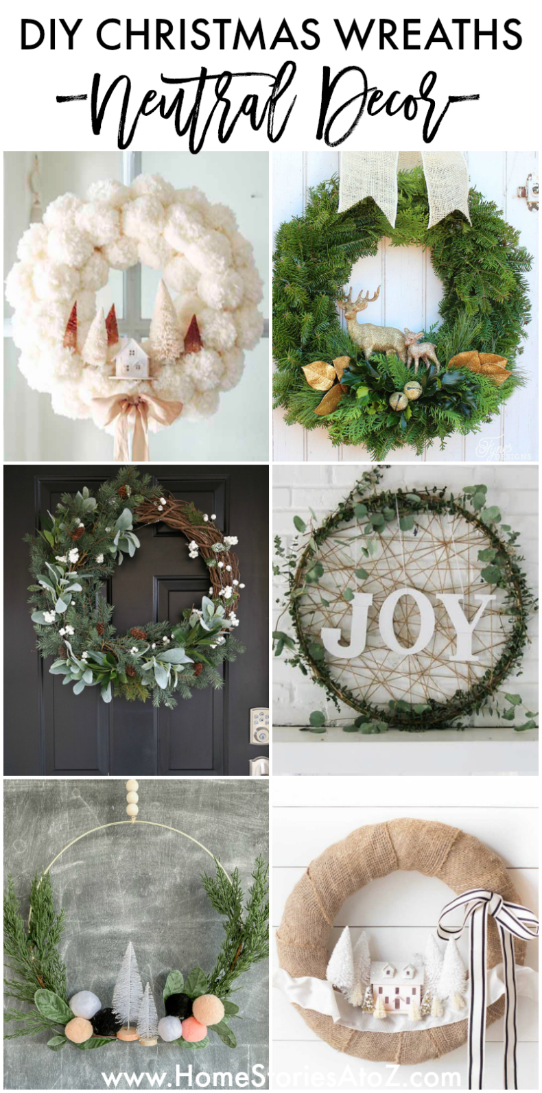 DIY Christmas Wreaths - Neutral Decor