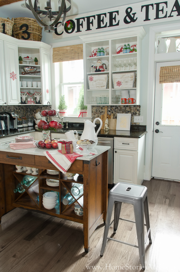 Traditional Christmas Decor Ideas - Christmas Kitchen Traditional by Home Stories A to Z