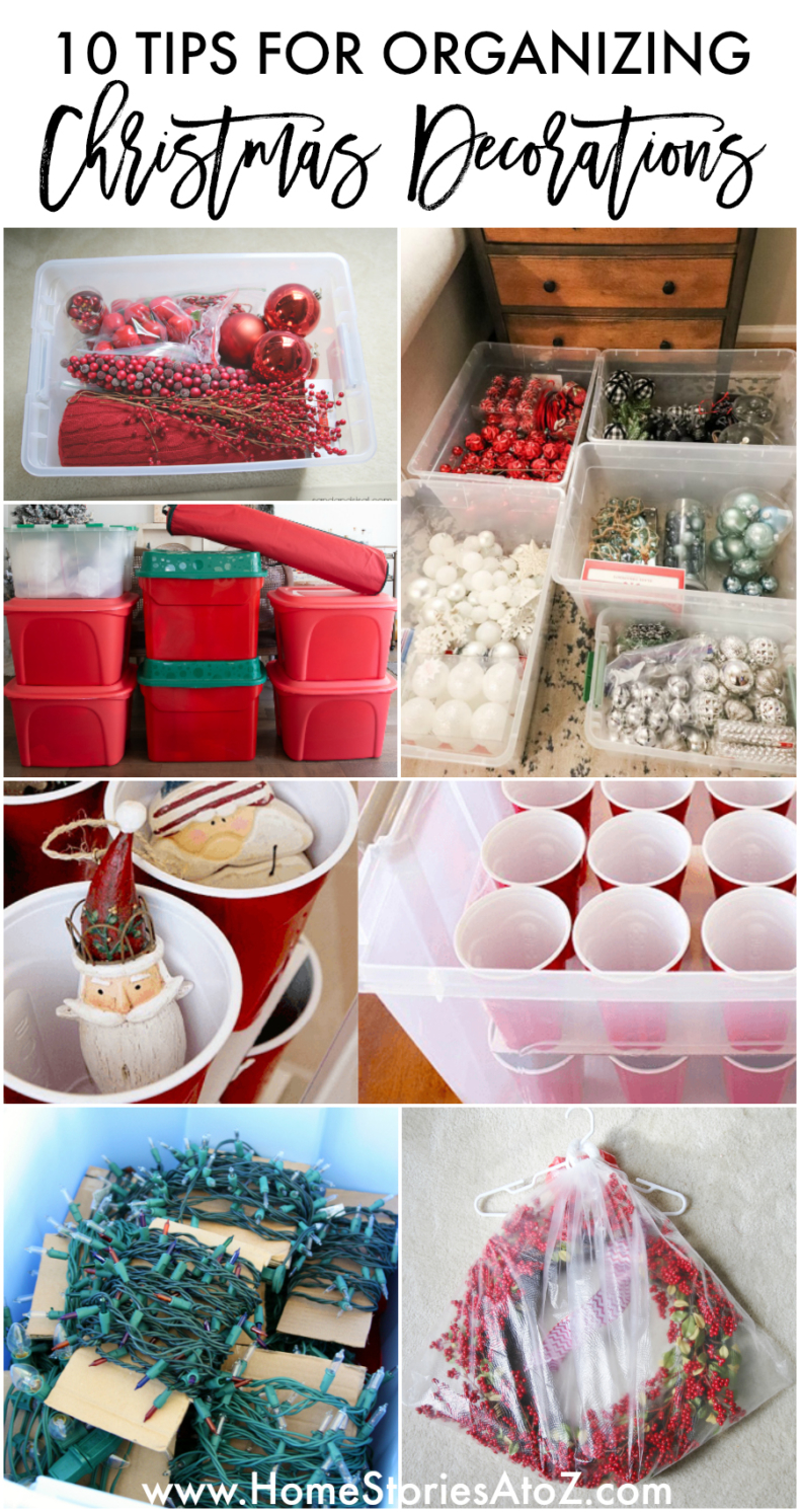 10 Tips for Organizing Christmas Decorations