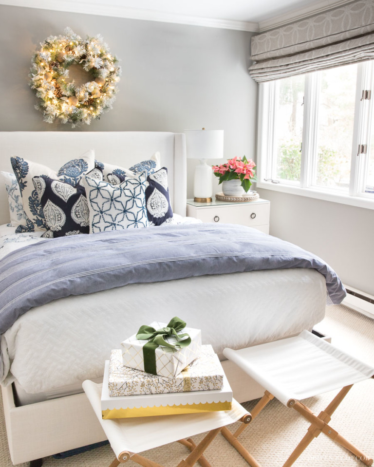 Christmas Bedroom Decor Ideas - Christmas Home Tour by Driven By Decor