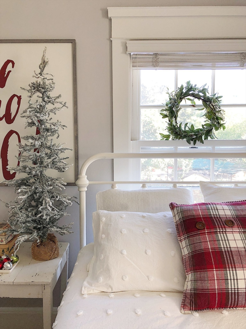 Christmas Bedroom Decor Ideas - Classic Christmas Bedroom by My 100 Year Old Home