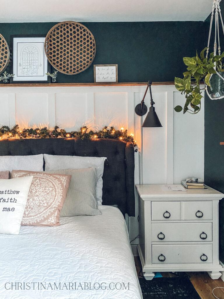 Christmas Bedroom Decor Ideas - Cozy Christmas Bedroom by Christina Maria Blog
