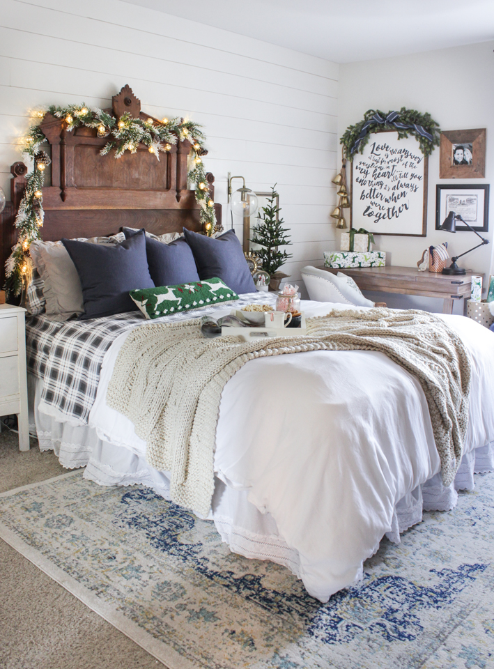 Christmas Bedroom Decor Ideas - Rustic Christmas Master Bedroom by Shades of Blue Interiors