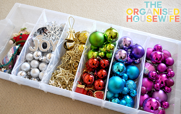 Christmas Decoration Storage Tips - Organizing Storage Decorations by The Organised Housewife