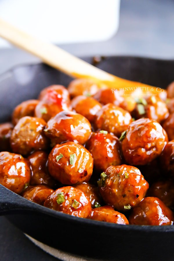 Cranberry Recipes - Cranberry BBQ Meatballs by Kleinworth & Co.