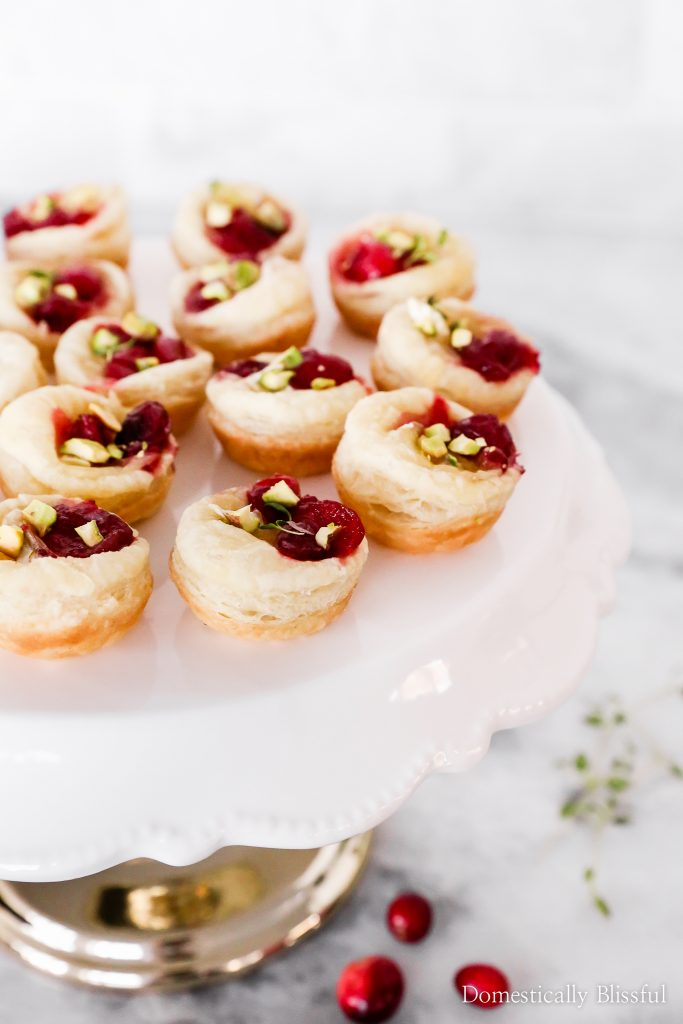 Cranberry Recipes - Cranberry Brie Puff Pastry by Domestically Blissful