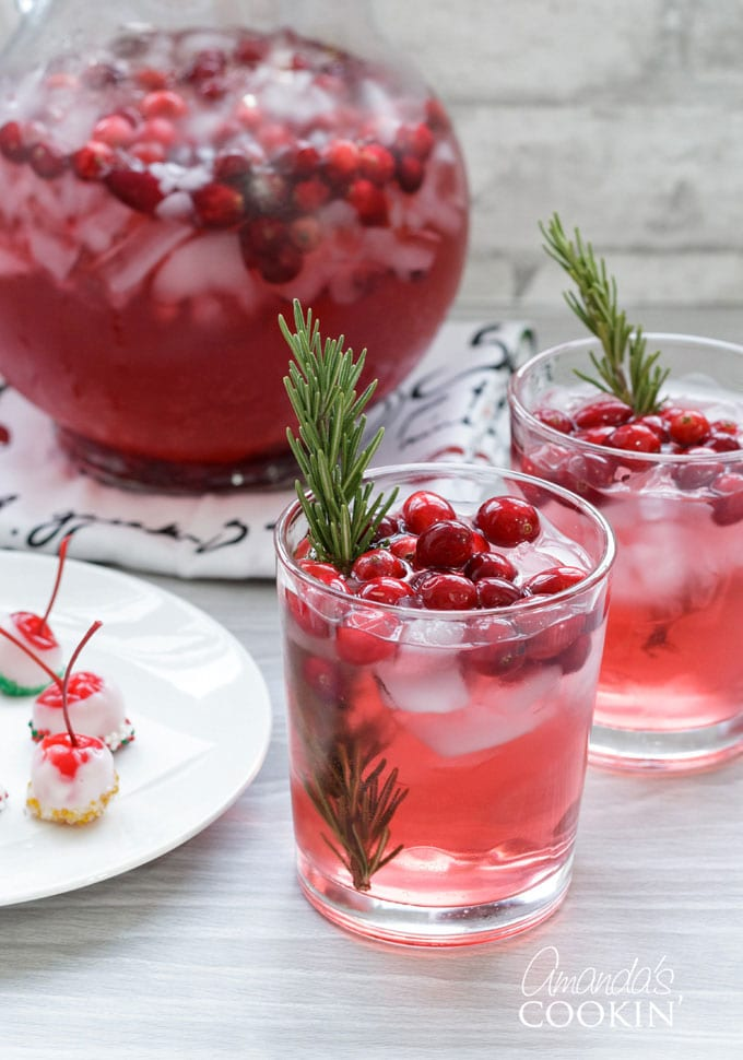 Cranberry Recipes - Cranberry Holiday Punch by Amanda's Cookin