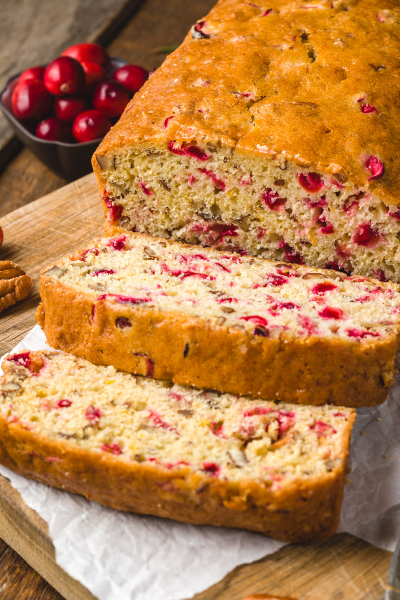 Cranberry Recipes - Cranberry Nut Bread by Kippi At Home
