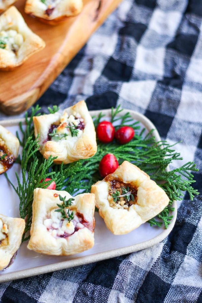 Cranberry Recipes - Cranberry Puff Pastry with Goat Cheese by Modern-Glam