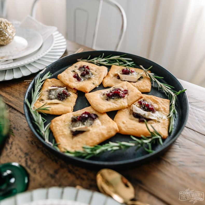 Cranberry Recipes - Easy Cranberry Brie Tarts by The DIY Mommy