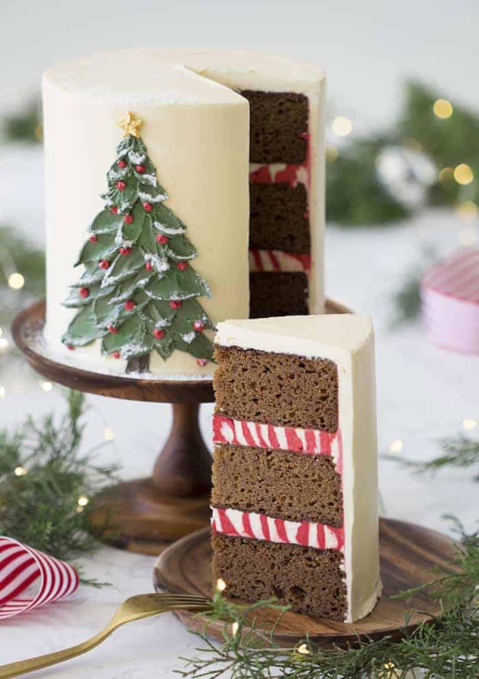 Elegant Christmas Desserts - Christmas Cake by Preppy Kitchen
