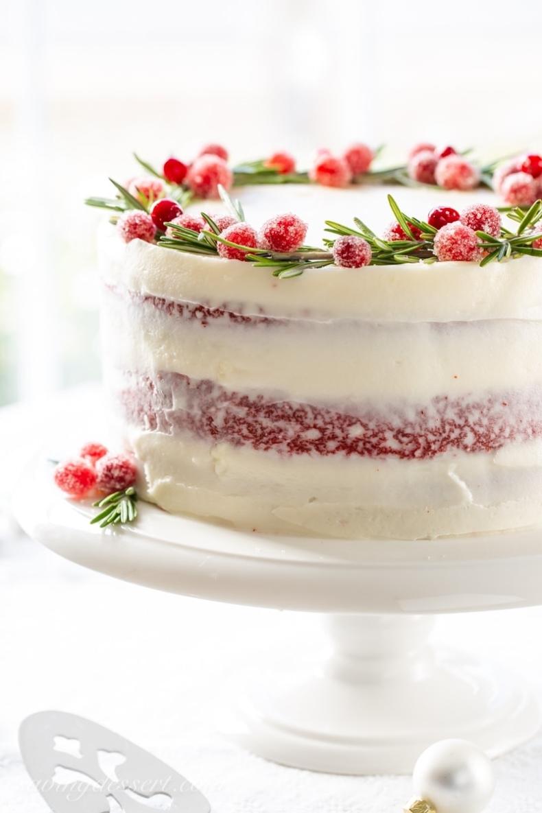 Elegant Christmas Desserts - Red Velvet Cake by Saving Room for Dessert