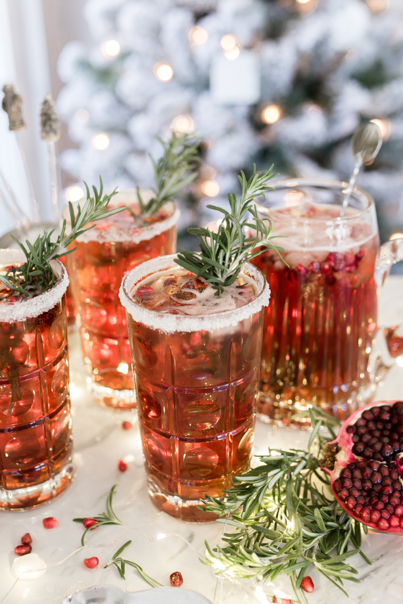 Holiday Drink Recipe - Better Not Pout Pomegrante Punch by Home Stories A to Z