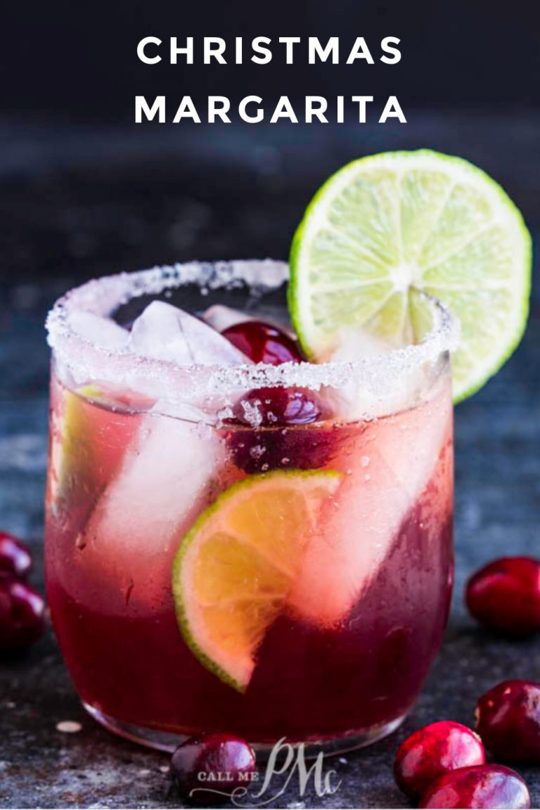 Holiday Drink Recipe - Christmas Margarita by Call Me PMC